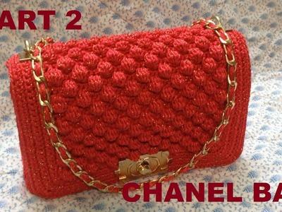 How to Crochet Bag CHANEL part 2 - Hướng dẫn móc túi xách CHANEL P2