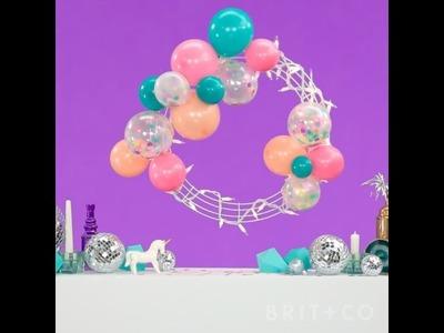 How to DIY a Confetti Balloon Wreath