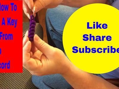 How To DIY make a key ring from scrap paracord
