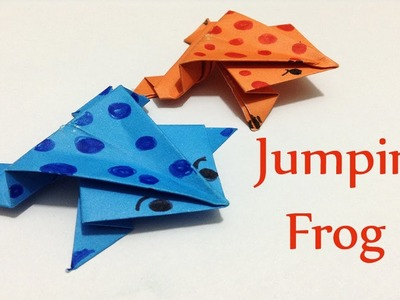 How to Easily make a Jumping Paper Frog