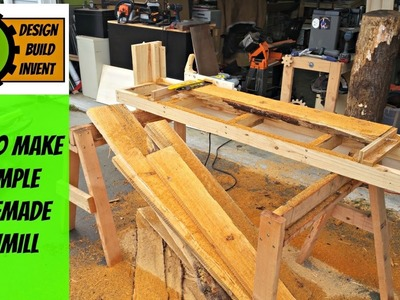 (how to make) a simple homemade  sawmill
