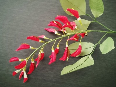 How To Make Ceibo Flower From Crepe Paper - Craft Tutorial