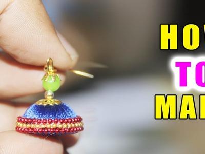 How to Make Earrings With Silk Thread | latest silk thread bangles designs