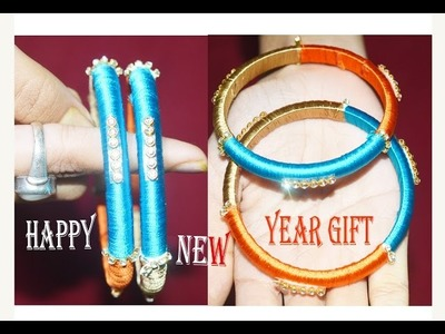 How to make simple silk thread bangles at home. !!