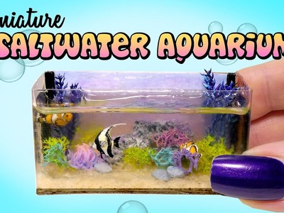 Miniature Saltwater Aquarium Tutorial. DIY Dolls.Dollhouse