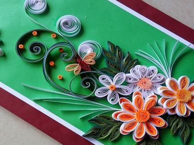 ☑️Quilling cards  ❄How to make paper Quilling Greeting Card