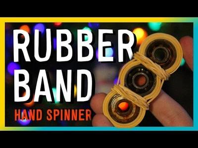 RUBBER BAND HAND SPINNER | Cheap Fidget Toys Tutorial (DIY TORQBAR)