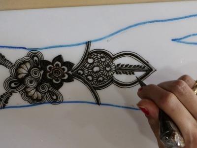 Simple mehendi chapter 47: DIY simple semibridal mehendi henna design