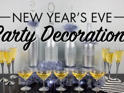 Spray Painted Bottles DIY for New Year's Eve Party Decorations | BalsaCircle.com