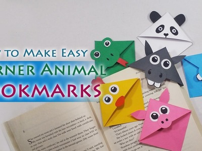 Animal Bookmarks: How to make Cute Animal Corner Bookmarks