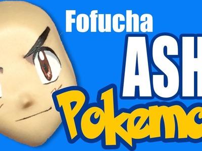 Como pintar cara para fofucha Ash (Pokemon) - How to paint fofucha Ash face (Pokemon)