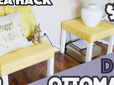 DIY: $10 Ottomans (Ikea Lack Table Hack)