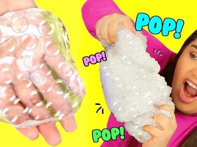 DIY Bubble Wrap Slime! Super Crunchy Popping Slime!