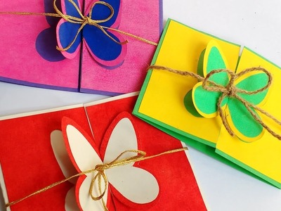 Diy How to make 3D Butterfly Greeting Card