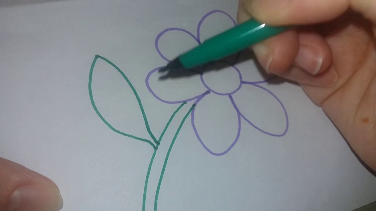 How To Draw A Flower For Kids Easy