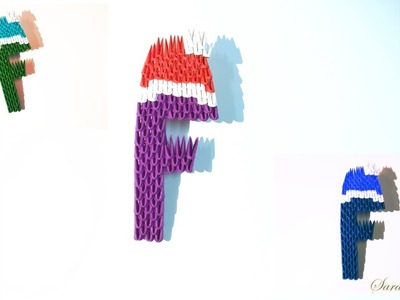 How to make 3d Origami Letter F