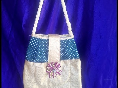How to make a bag at home with zip and inside pocket