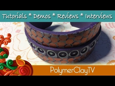 How to make a flexible polymer clay Polka Dot Cuff Bracelet