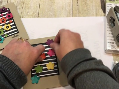 How to make a HAPPY card with Stampin Up's Thoughtful Banners and Petite Petal Punch