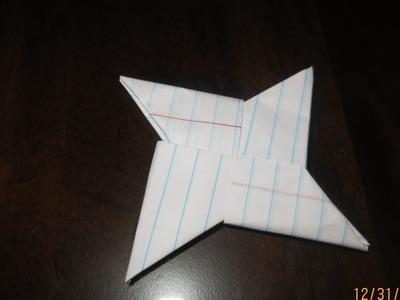 How to make a paper ninja star Oragami Toturial EAZY!