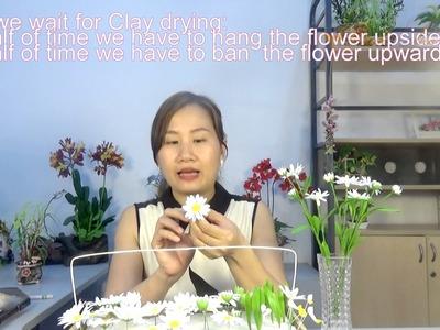How to make clayflower Daisy