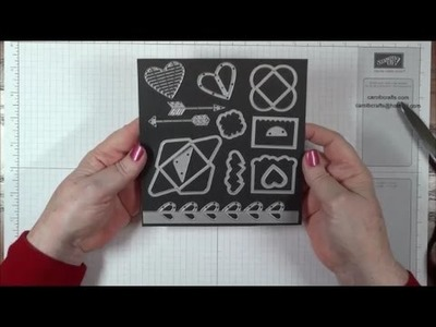 How to make magnetic storage sheets for Stampin' Up! Sizzix metal dies