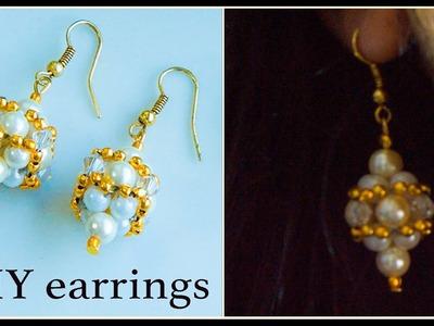 How to make pearl earrings | DIY pearl earrings| make pearl bridal earrings