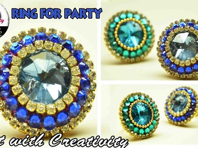 How to make Silk Thread RING | For Party | Art with Creativity 118