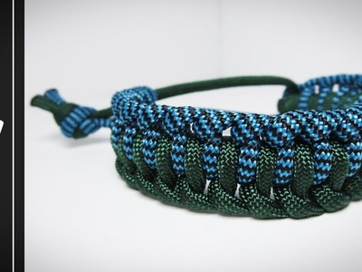 How to make The Earth and Sky (Single Genoese) Paracord Bracelet [NO BUCKLE NEEDED]