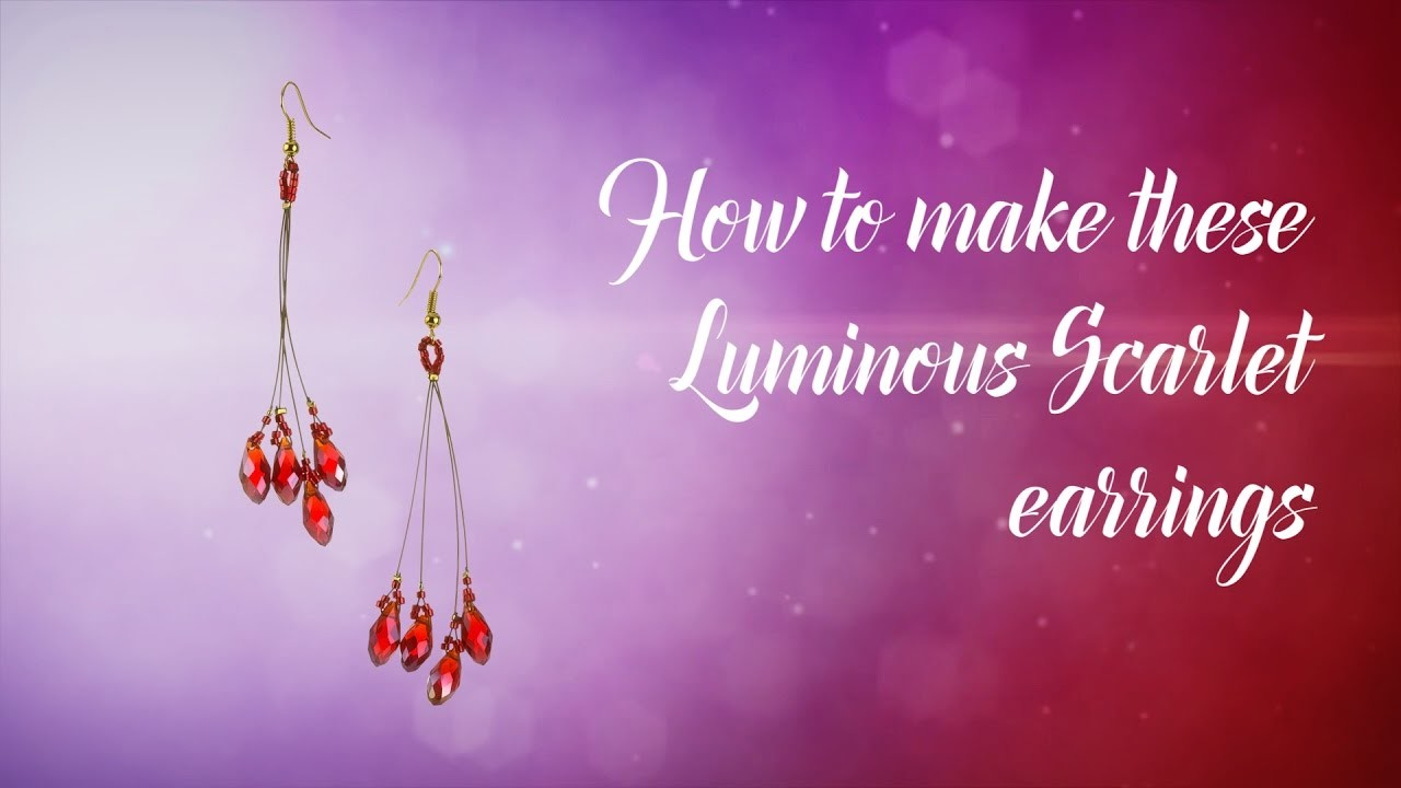 How to make these Scarlet Crystal earrings ❤ Valentine's design