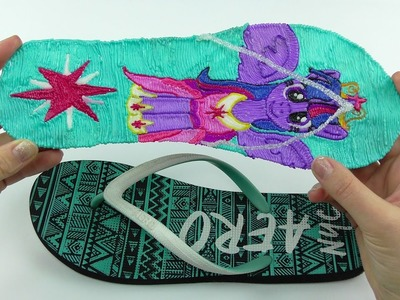 My Little Pony How to Draw Flip Flop with Twilight Sparkle with 3D PEN! Video for kids