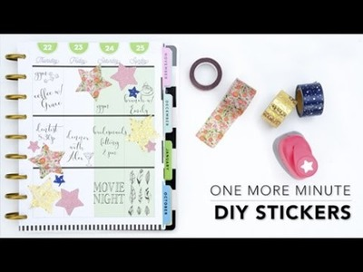 One More Minute: DIY Stickers
