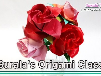 Origami - Rose (How to make a paper rose)