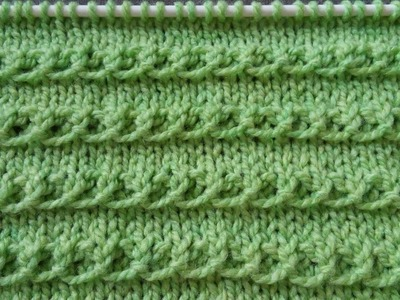 Pletenje - 8. Dekorativna reljefna šara | Knitting tutorial - Ridge Stitch