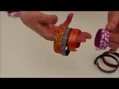 Silk Screen, simple flexible cuff bracelet, polymer clay tutorial