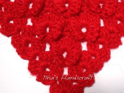 Triangular owl crochet stitch