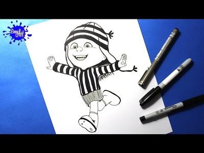 Como dibujar a  edith l How to draw Edith l My villano favorito