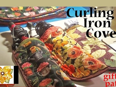 Curling Iron Case with ironing board cover fabric | ZSA Gift Tutorials