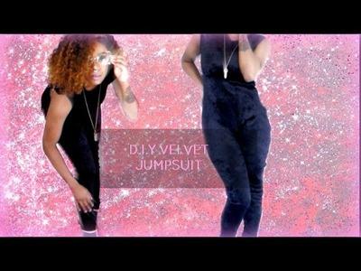 D.I.Y BLACK VELVET JUMPSUIT