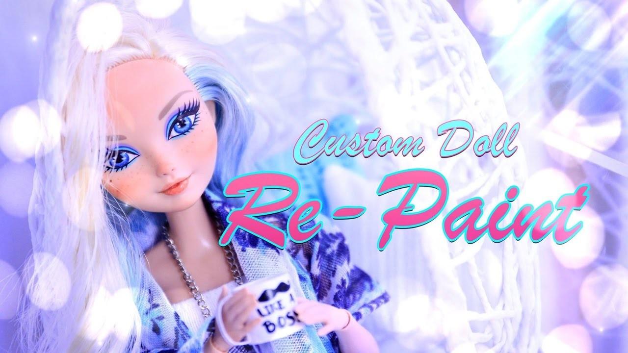 DIY - How to Make: Custom Doll RePaint - Face Up - 4K