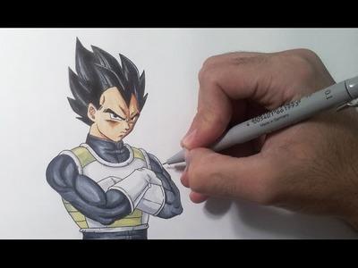 Drawing Vegeta - Resurrection F (Fukkatsu no F)
