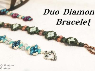 Duo Diamond Bracelet-Bead Weaving Jewelry Tutorial