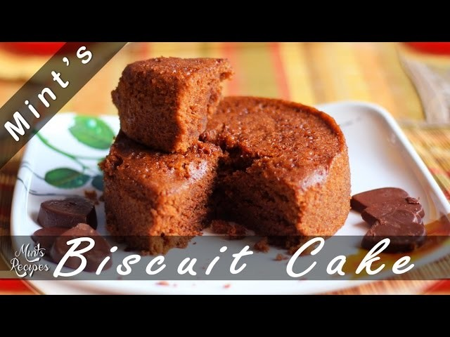 Eggless Spongy Biscuit Cake Recipe Without Oven In Hindi