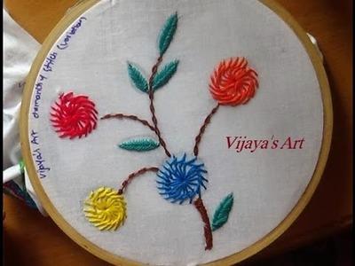 Embroidery Designs # 196 - Chemanthy stitch flower designs