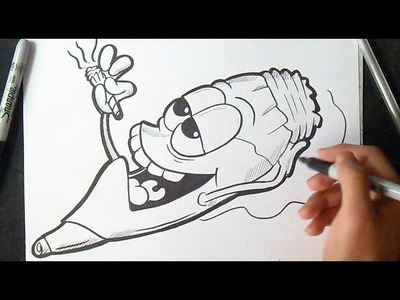 Graffiti Boceto: Cómo dibujar un Porro | How to Draw character cigar