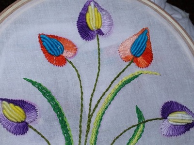 Hand Embroidery Designs | Cushion cover design | Stitch and Flower-101