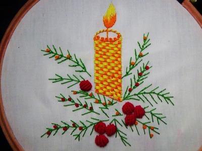 Hand Embroidery: Fern Stitch (Holiday Theme)