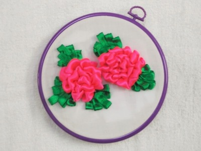 Hand Embroidery - Pink Ribbon Flower Stitch