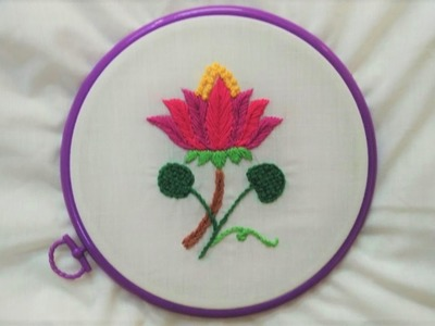 Hand Embroidery - Water Lily Stitch