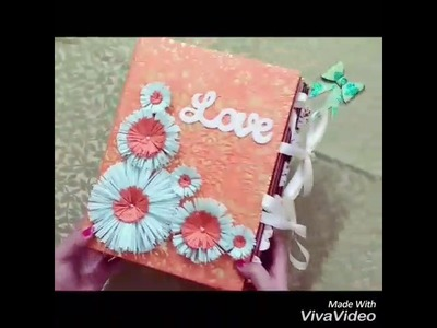 """Handmade Large 8""""x11"""" Scrapbook Album for Someone Special on Valentine's Day (30 Pics - 4""""x6""""&5""""x7"""")"""